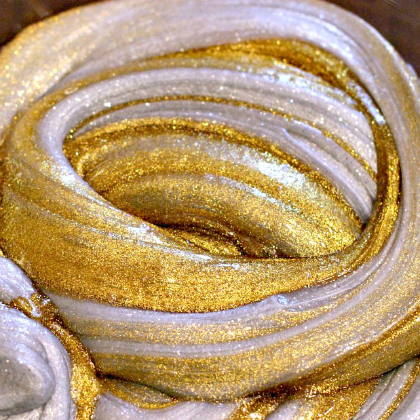 silver and gold slime