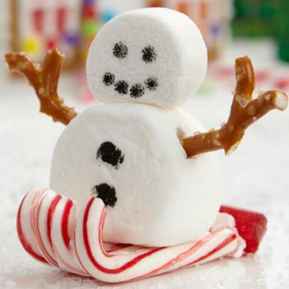 snowman sleigh