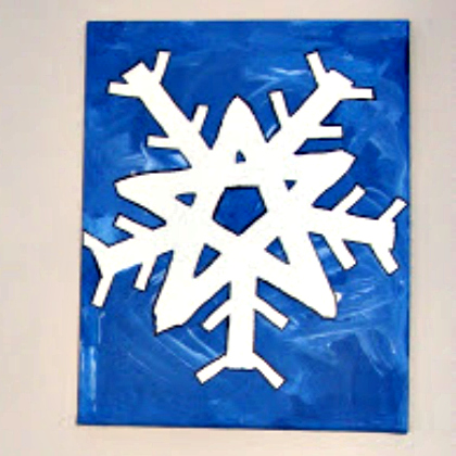 tape painted snowflake