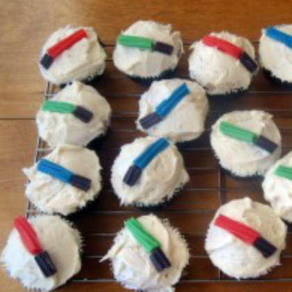 twizzler lightsaber cupcakes