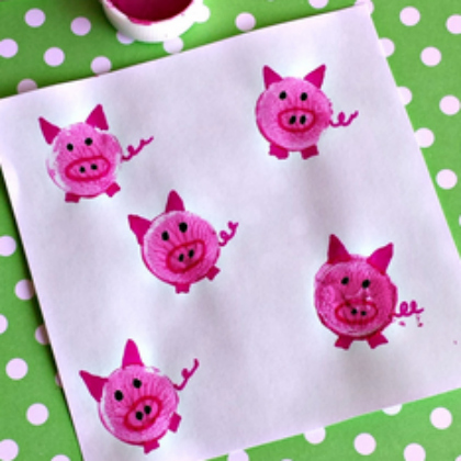 wine cork pig craft