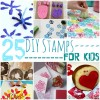 25 Super Crafty DIY Stamps For Kids