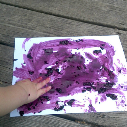blackberry fingerpaint