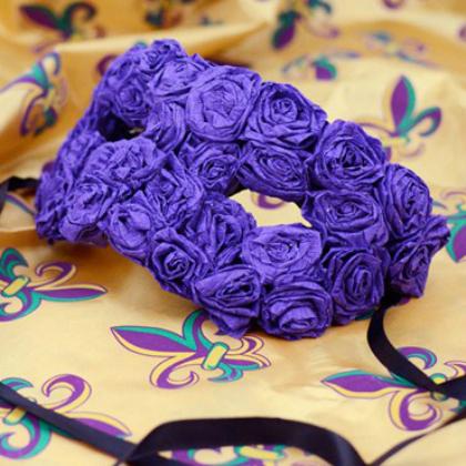 crepe paper roses mask