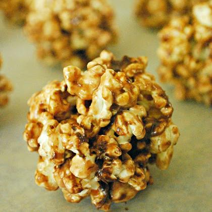 hot cocoa popcorn balls
