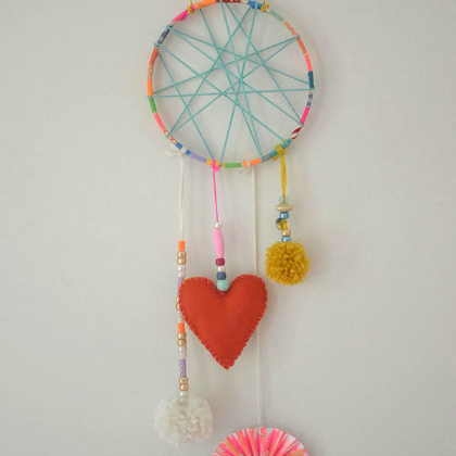 make washi tape dream catchers
