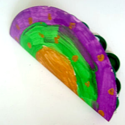 paper plate castanet