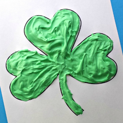 puff paint shamrock