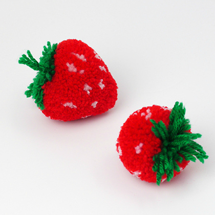 strawberry pom poms