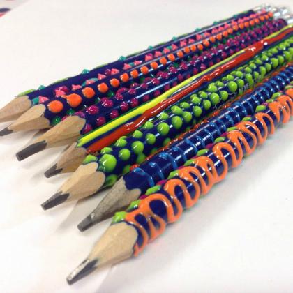 textured pencils