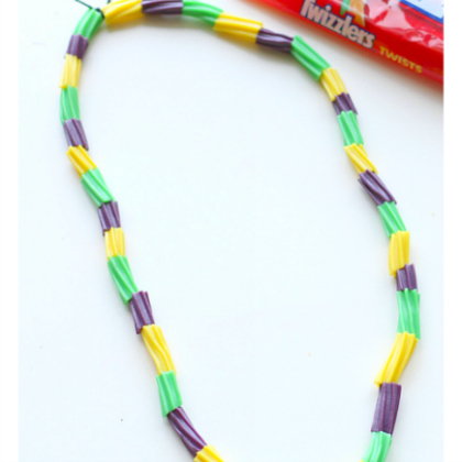 twizzler bead necklace