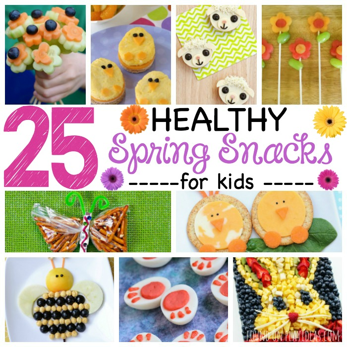 25 Healthy Spring Snacks for Kids Featured