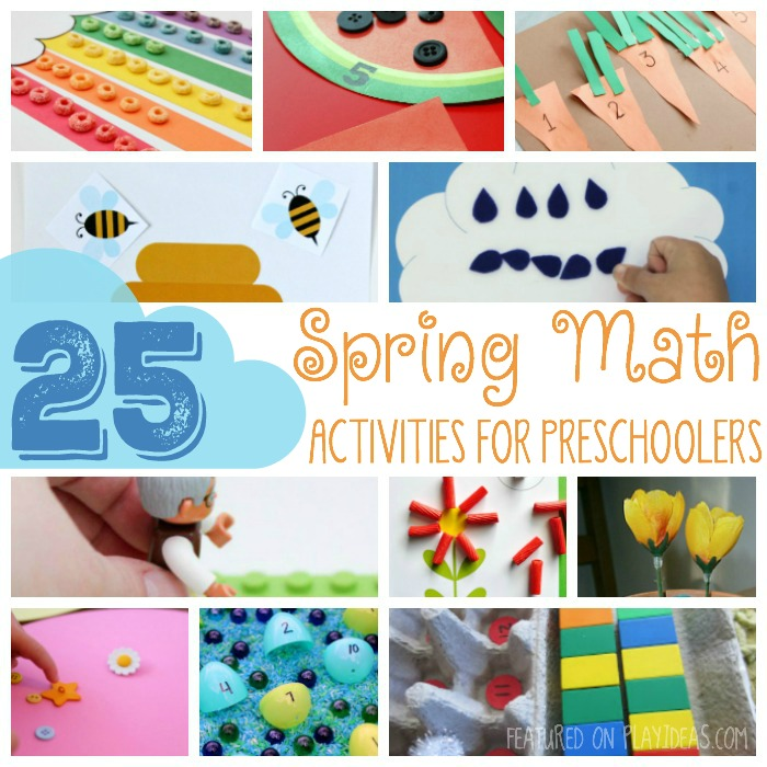 25 SPRING MATH ACTIVITIES FOR PRESCHOOLERS FEATURED