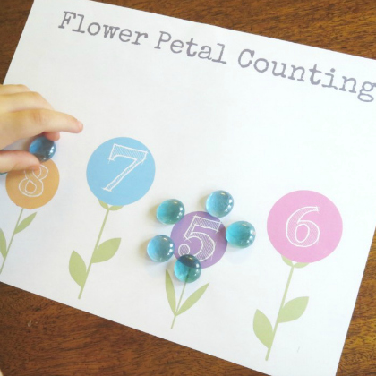 flower petal counting