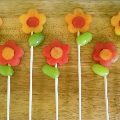 fruit flower kabobs