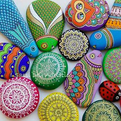 mandala painted rocks