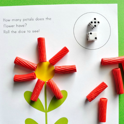 petal counting dice game