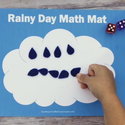 rainy day math mat