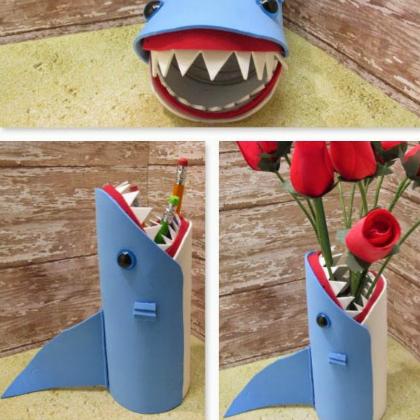 shark vase