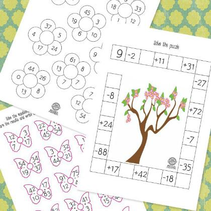 spring math printable