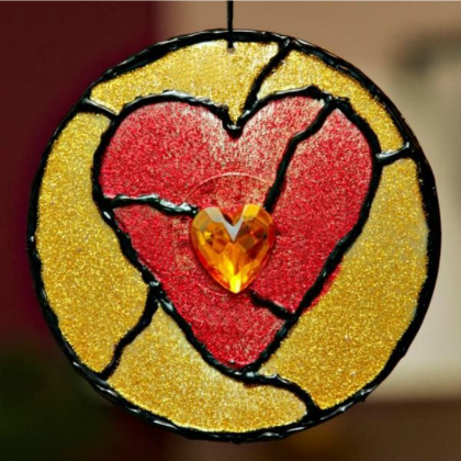 stained glass heart