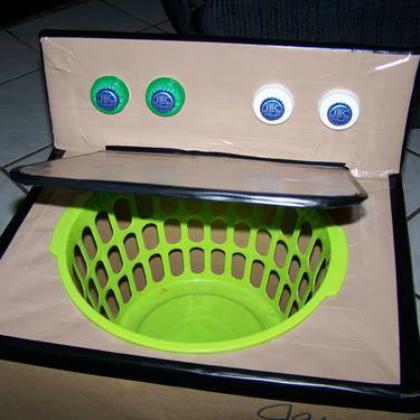 washing machine pretend play