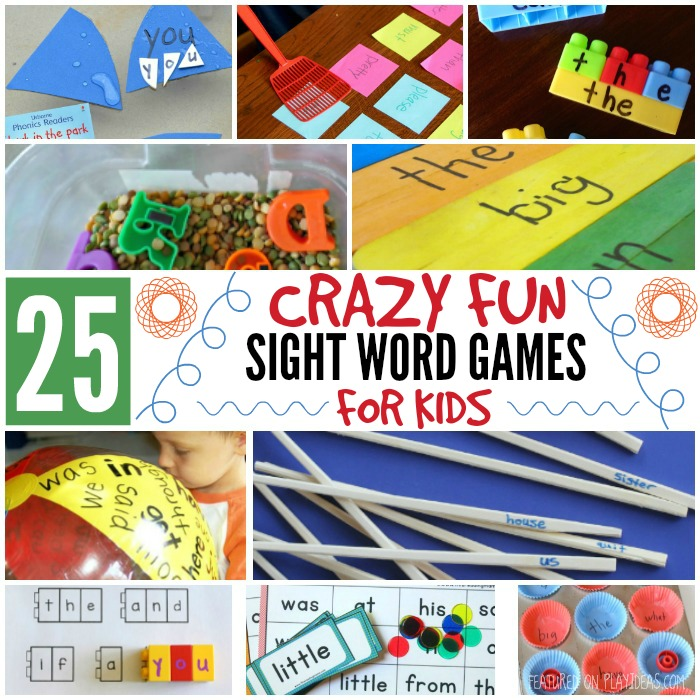 25 Crazy Fun Sight Word Games For Kids featured on Play Ideas