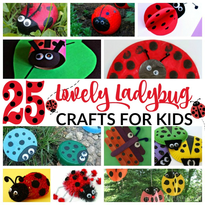 25 Lovely Ladybug Crafts For Kids Featured