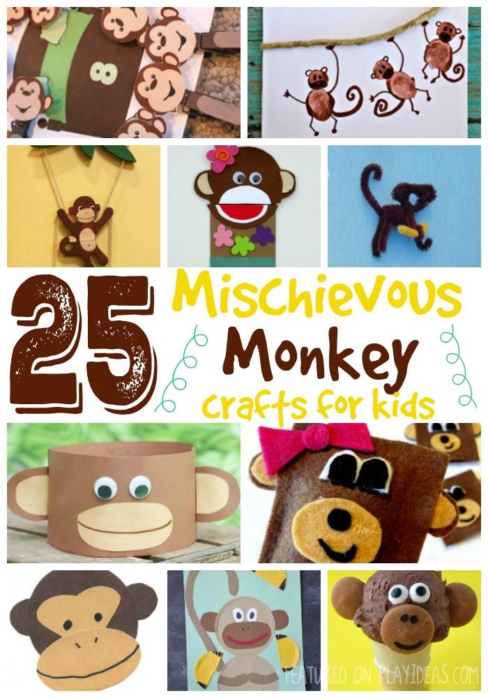 25 Mischievous Monkey Crafts for Kids