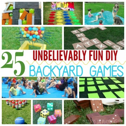 25 Unbelievably Fun DIY Backyard Games For Kids