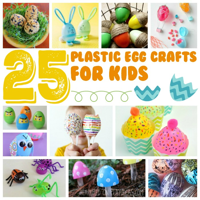 25 plastic egg crafts for kids featured