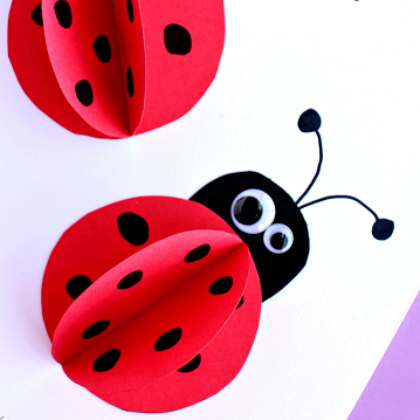 3d paper ladybug