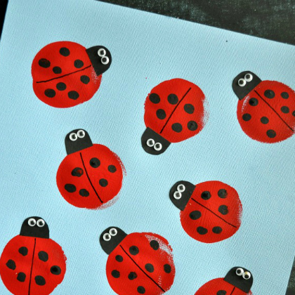 balloon printed ladybugs