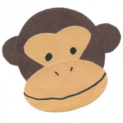 construction paper monkey