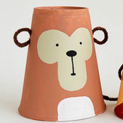 foam monkey cup