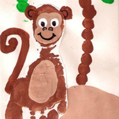 footprint monkey