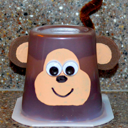 monkey pudding cup