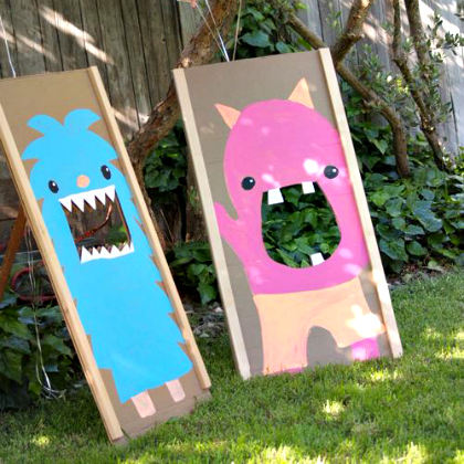 monster beanbag toss