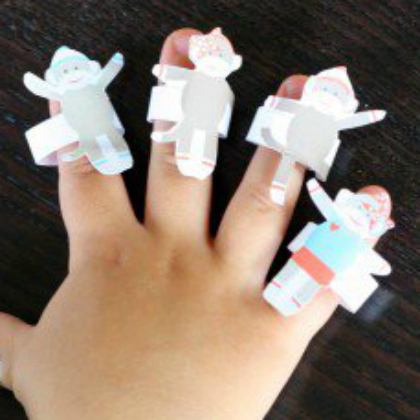 paper monkey puppets