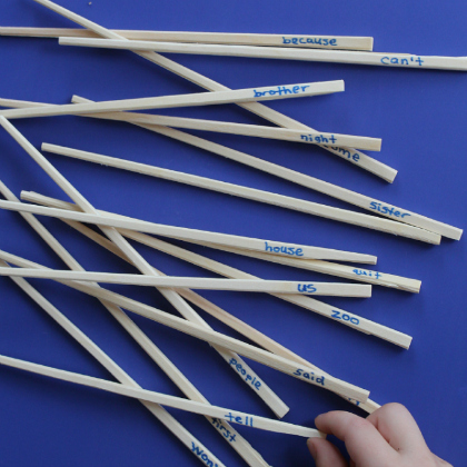 pick up sticks games to create sentences