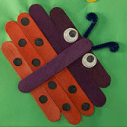 popsicle stick ladybug