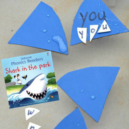 shark sight word game inspired by the ocean