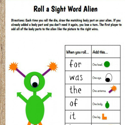 sight word alien