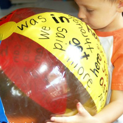 sight word beach ball from Kids Activities Blog