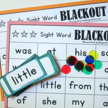 sight word blackout - Dolch Bingo