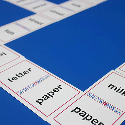 sight dominoes game for high-frequency words