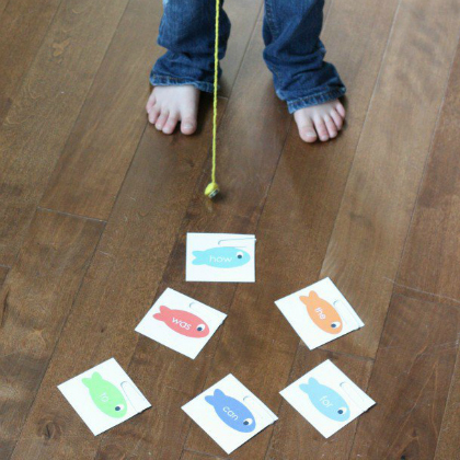sight word fishing game for word recognition
