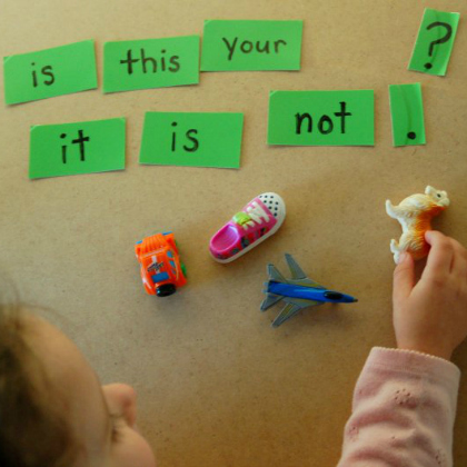 sight word toy game for emerging readers