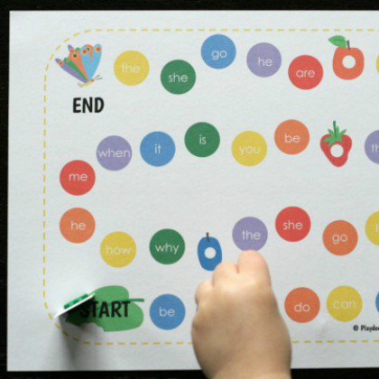 very hungry caterpillar sight word game free printable