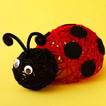 yarn ladybug